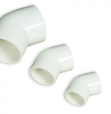 White 32mm PVC 45 Degree Bend