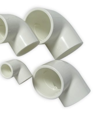 White 25mm PVC 90 degree Bend