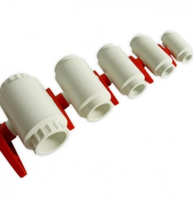 White 25mm PVC Ball Valve