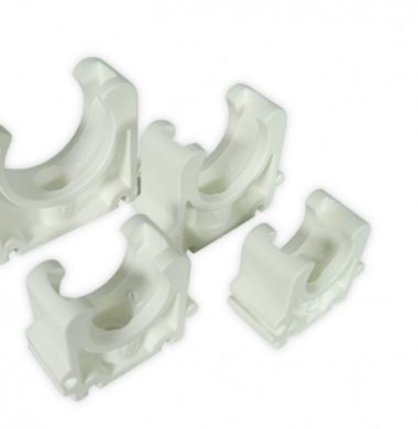 White 25mm PVC Pipe Clip