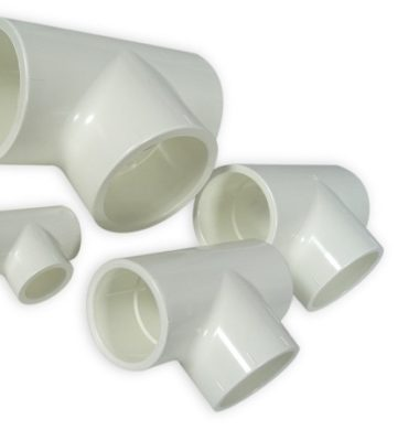 White 40mm PVC T-Piece